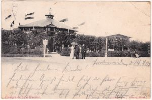 Ansichtskarte Travemünde Lübeck Strandpavillon - belebt 1907