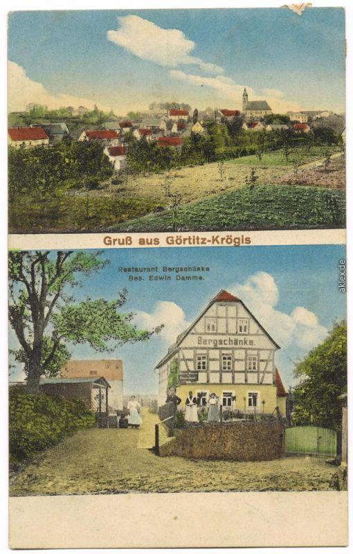 Krögis Käbschütztal Görtitz Restaurant Bergschänke Bahnpost b Meißen ...