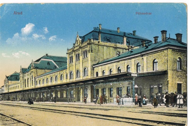 Arad Rumänien arad rumänien arad românia pàlyaudvar bahnhof 1916 nr 48365