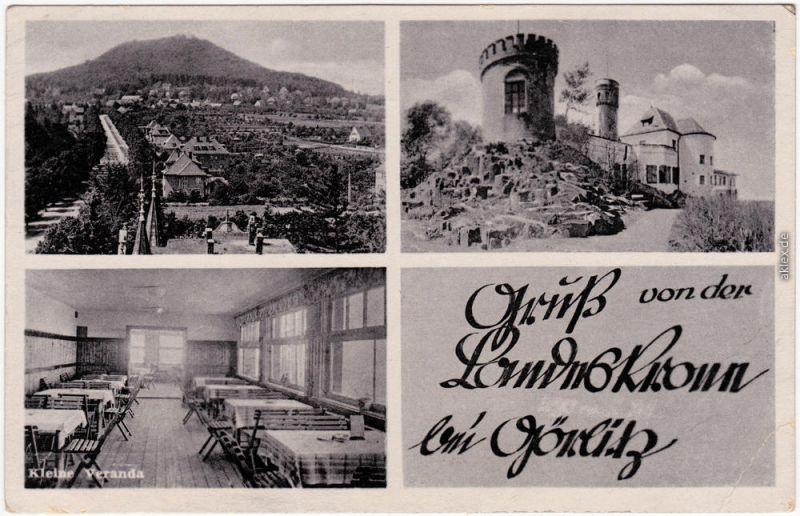 Biesnitz Görlitz Zgorzelec 3 Bild: Landeskrone - Hotel und Veranda 1940