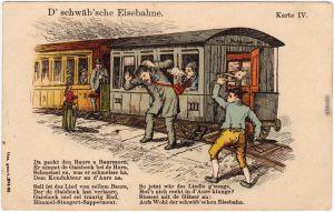 Schwäbische Eisenbahn - D schwäbsche Eisebahne 3 1912 Goldrand