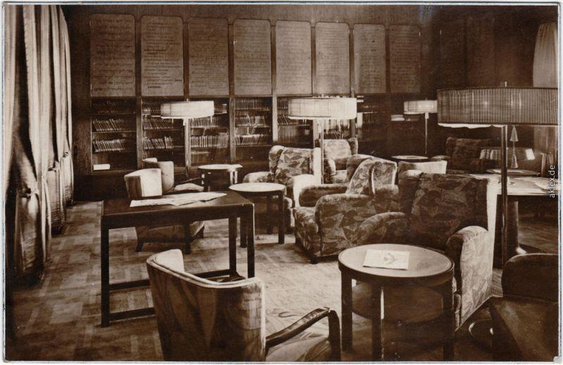 Turbinen-Schnelldampfer - Bremen  Bibliothrk KL I   Ansichtskarte Dampfer 1929