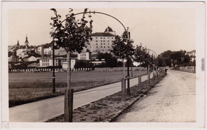 Jungbunzlau Mladá Boleslav Stadt, Straße Fabrik Deutsche Dienstpost Böhmen 1943