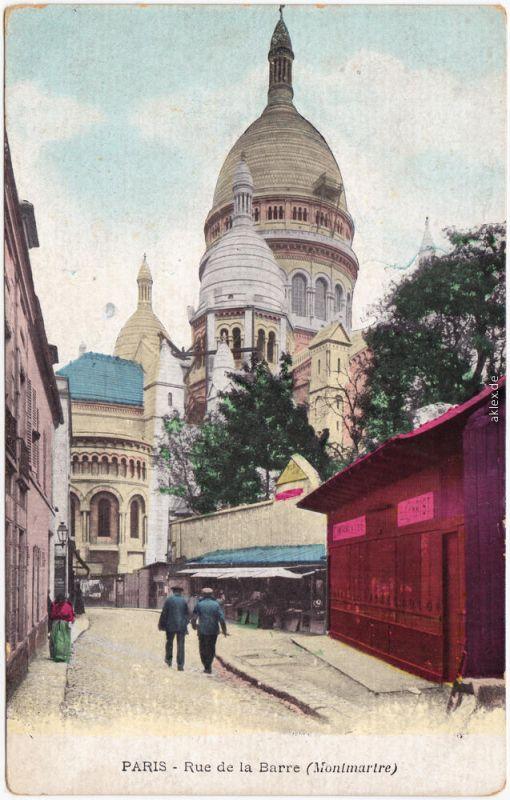 Ansichtskarte CPA Montmartre  Paris Rue de la Barre - Kiosk 1914