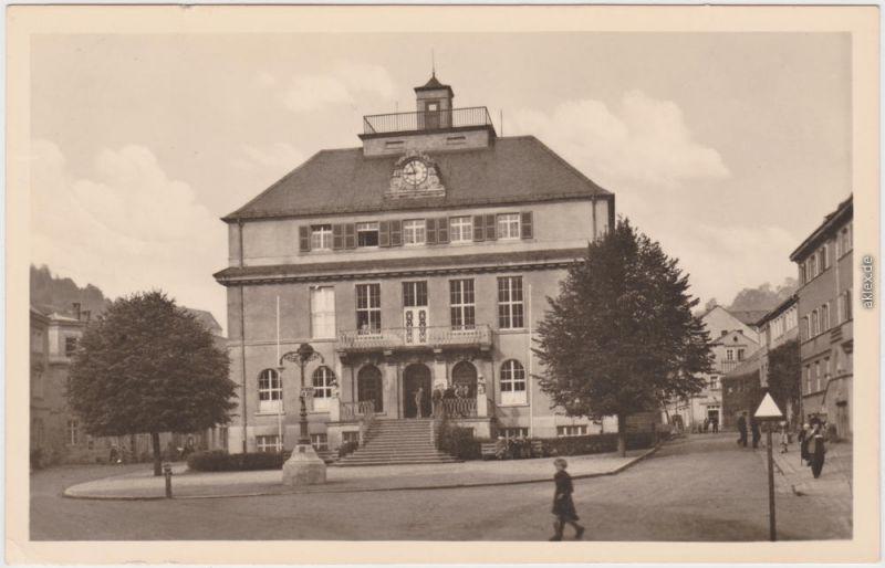 Glashütte Fachschule, Feinmechanik und Uhrentechnik Erzgebirge Fotokarte 1956