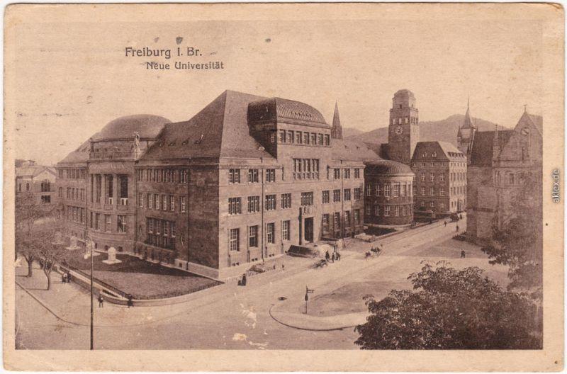 Ansichtskarte Freiburg im Breisgau Neue Universität 1917