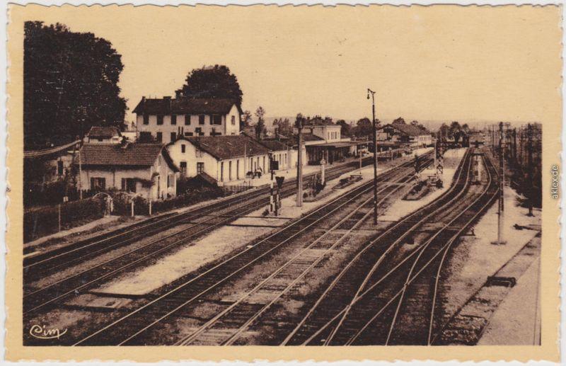 Is-sur-Tille La Gare CPA ANsichtskarte Côte-d'Or b Dijon  1940