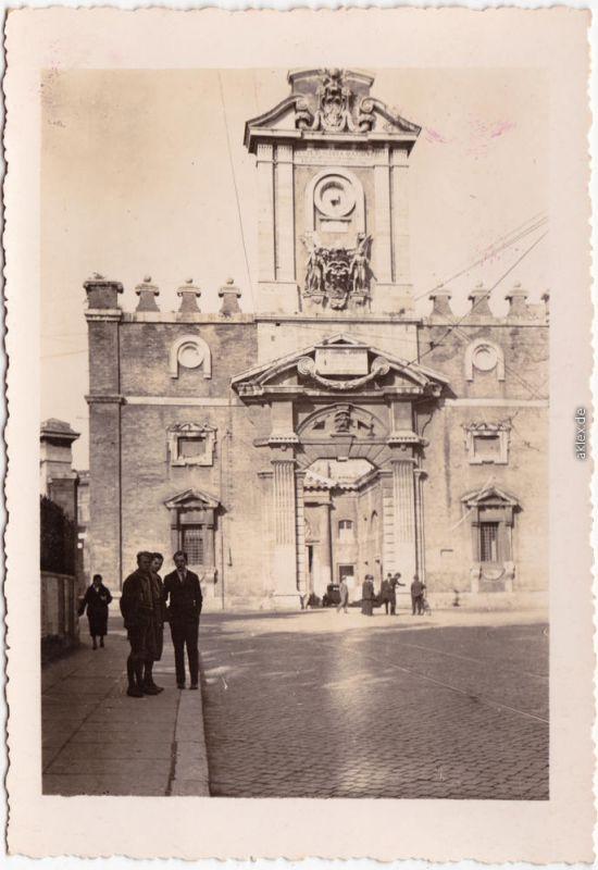 Rom Roma Porta-Pia (Privatfotokarte) Ansichtskarte  1930