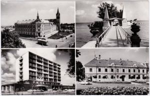 Kesthell Keszthely 4Bild Karte Foto Ansichtskarte Hungary Magyar 1967