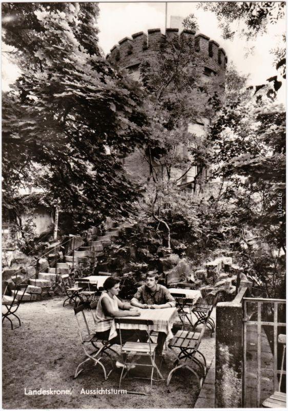 Biesnitz Görlitz Zgorzelec Restauration am Aussichtsturm, Landeskrone 1974
