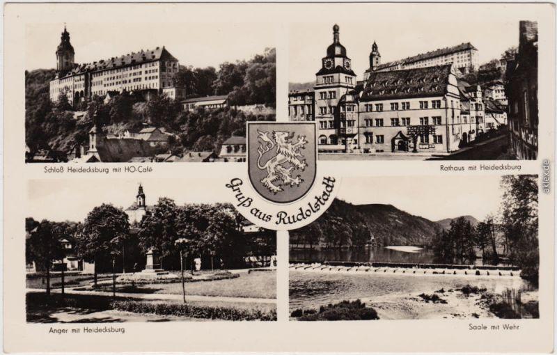 Rudolstadt Schloss Heidecksburg, Rathaus, Anger, Saale 1958