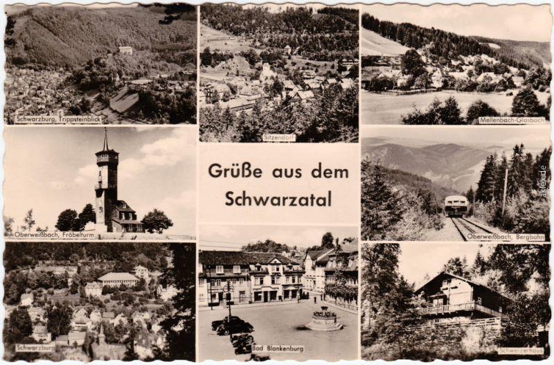 Schwarzburg Schwarzburg, Sitzendorf, Oberweißbach, Bad Blankenburg 1959