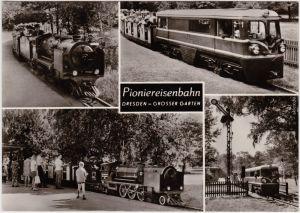 Dresden  Pioniereisenbahn, Großer Garten Foto Ansichtskarte 1977
