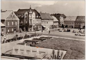 Elsterwerda Wikow Blick über den Marktplatz  Foto Ansichtskarte  1971