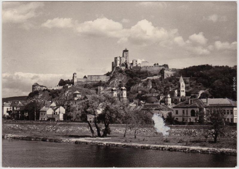 Trentschin Trenčín  Trencsén | Laugaricio Panorama mit Burg hrad 1975
