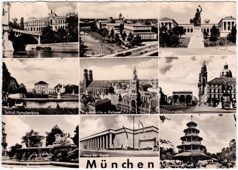München Haus der Kunst, Chinesischer Turm, Odeonsplatz 1957