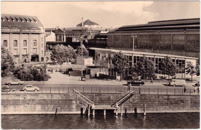 Foto Ansichtskarte Mitte Berlin Bahnhof Friedrichstraße 1964