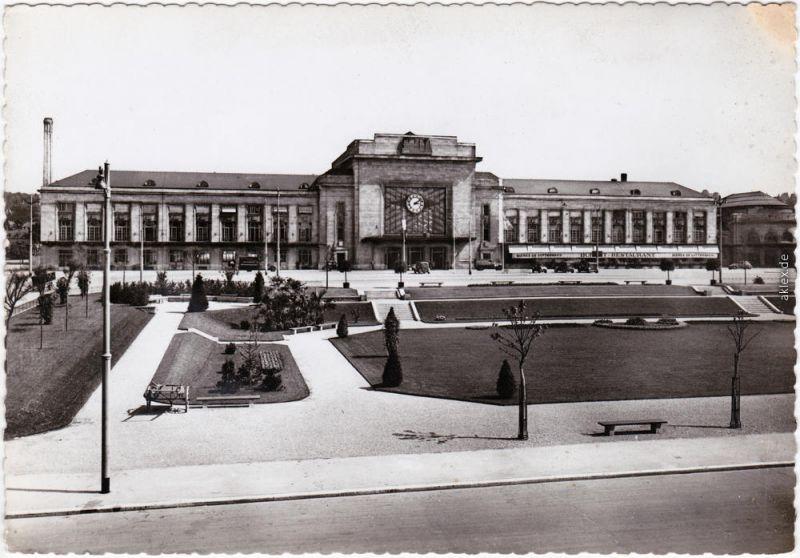 Mülhausen Mulhouse Bahnhof / La Gare Ansichtskarte Elsaß 1940