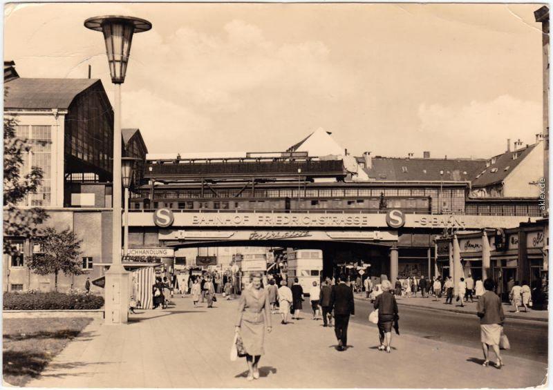 Mitte Berlin Bahnhof Friedrichstraße Ansichtskarte 1964