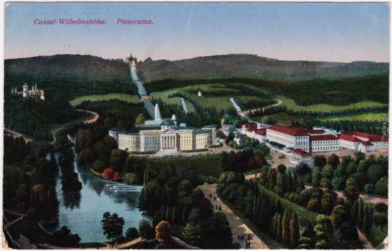 Ansichtskarte Bad Wilhelmshöhe Kassel Cassel Blick auf den Stadtteil 1917