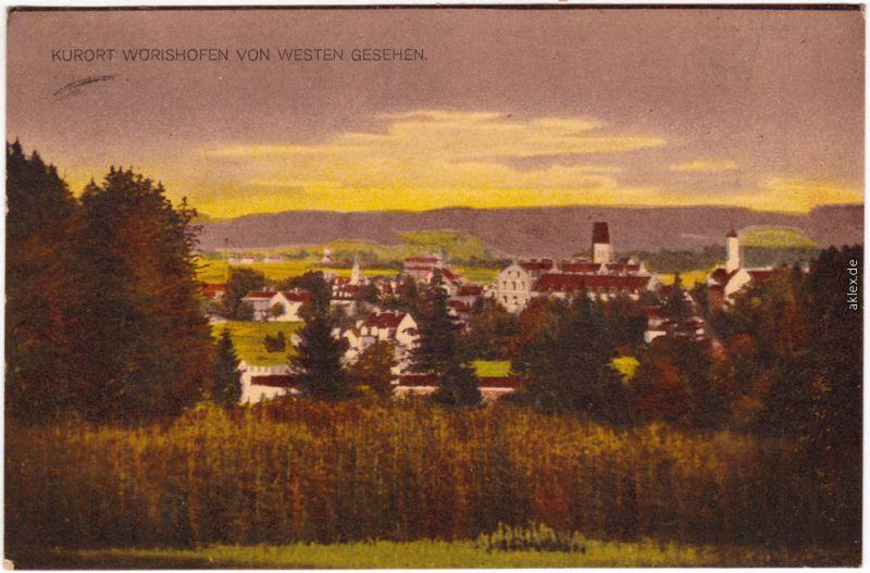 Bad Wörishofen von Westen Ansichtskarte 1918