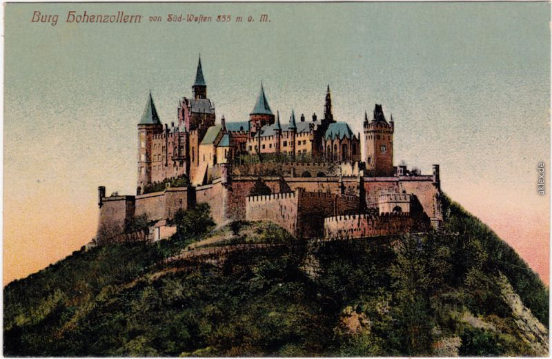 Ansichtskarte Hechingen Burg Hohenzollern 1915