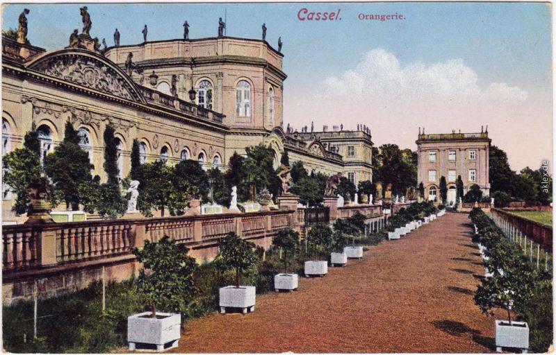 Kassel Cassel Orangerie  Ansichtskarte  1916