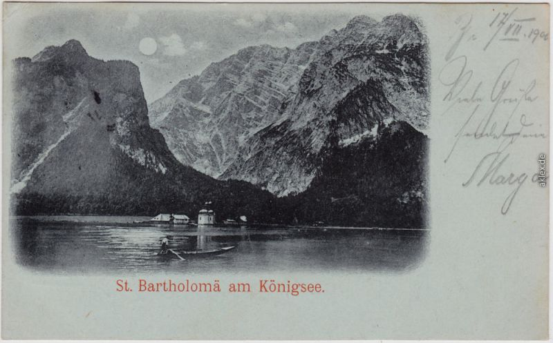 Schönau am Königssee St. Bartholomä am Königssee Lunakarte 1900 Luna