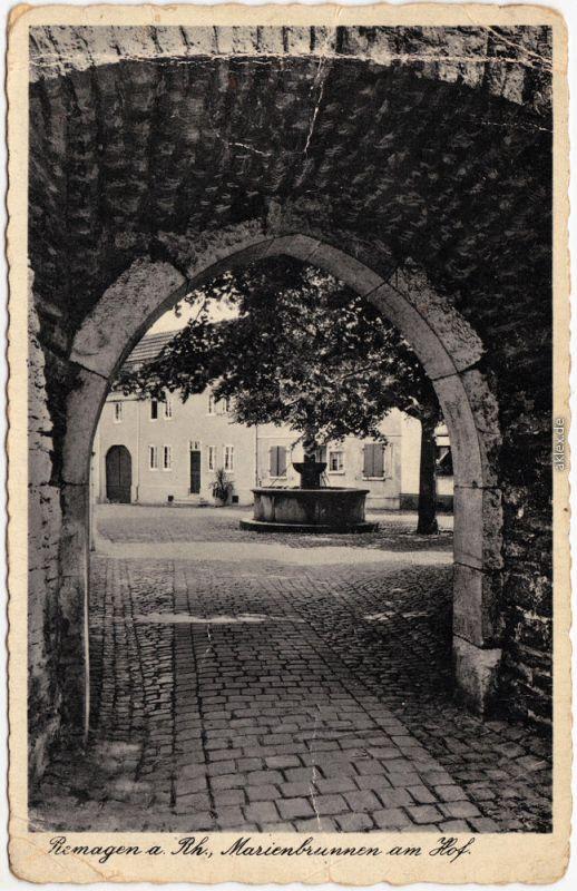 Remagen Marienbrunnen im Hof Ansichtskarte 1942