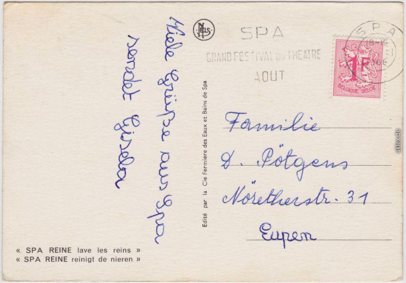 Spa kêr (Spå / Spâ) Spa Monopole  Reine reinigt de nieren/lave les reins 1968 1