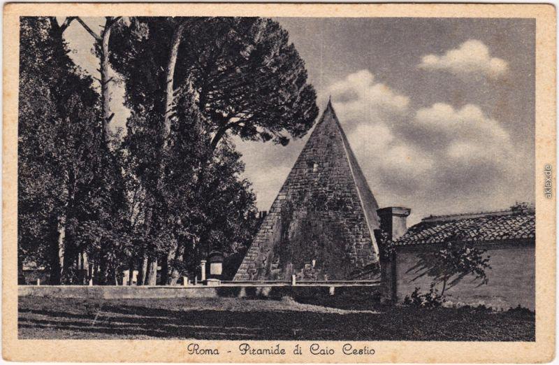 Ansichtskate Rom Roma Piramide di Caio Cestio 1930