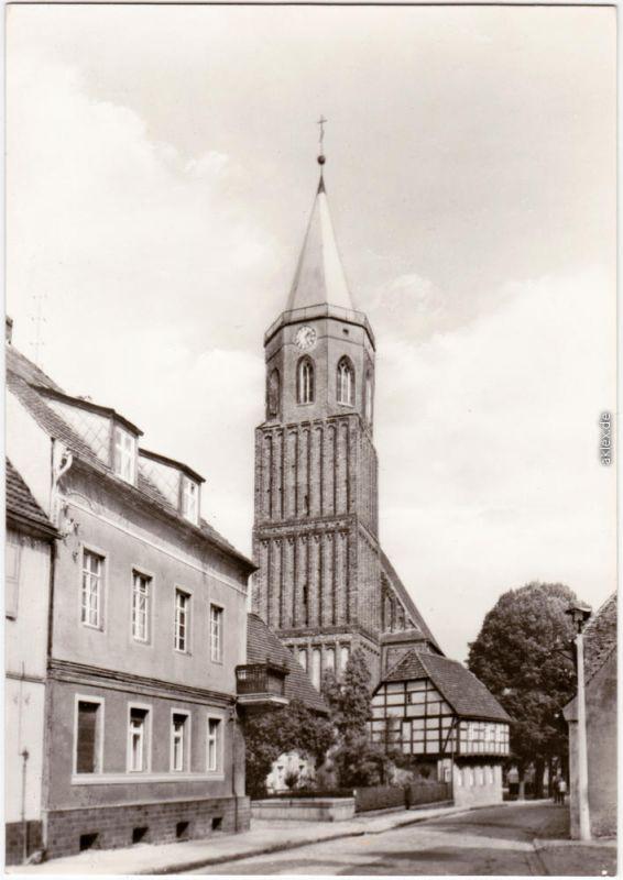 Calau Kalawa Kirchstraße  Foto Anichtskarte 1979