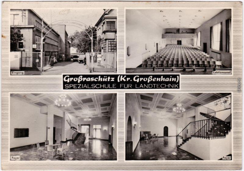 Großraschütz Großenhain 4 Bild: Spezialschule Landtechnik - innen und außen 1964