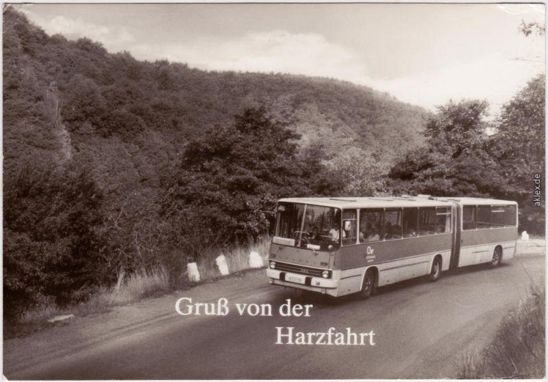 Foto Ansichtskarte Reisebus - Gelenkbus, Harzfahrt 1982