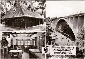 Hermsdorf (Thüringen) Mitropa-Raststätte Teufelstal, Brücke 1978