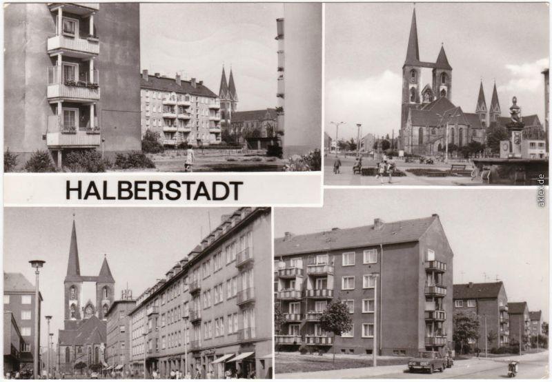 Halberstadt Lindenweg, Fischmarkt, Breiteweg, Clara-Zetkin-Ring 1983