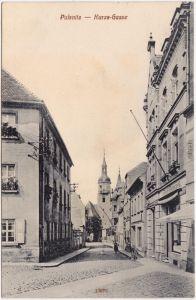 Pulsnitz Kurze Gasse Ansichskarte Oberlausitz b Kamenz 1914