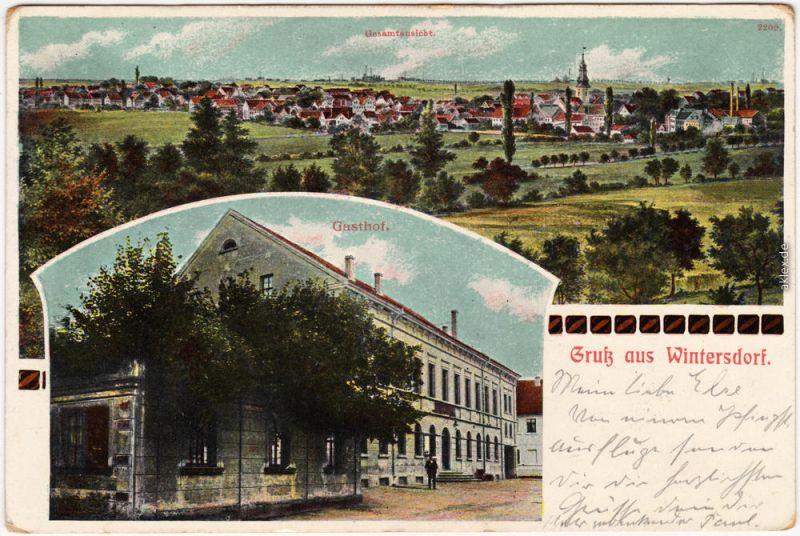 Wintersdorf Meuselwitz (Thüringen) 2 Bild: Gasthaus b Altenburg 1912