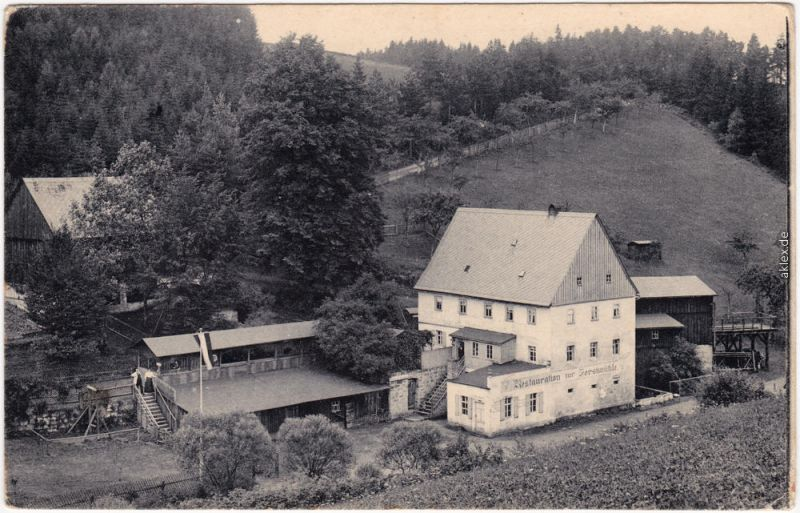 Gohrisch Sächs. Schweiz Forstmühle Krippengrund b Bad Schandau Königstein 1912