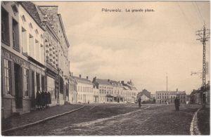 Péruwelz La Grande place Henegouwen Hainaut Hinnot 1918