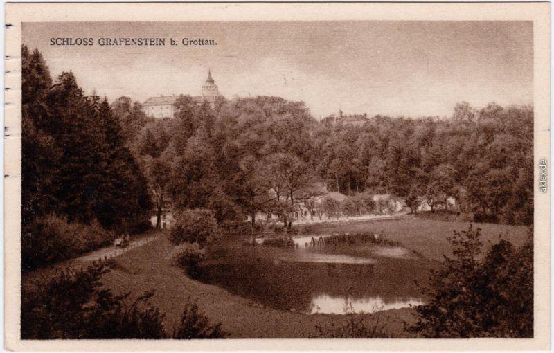 Grottau Hrádek nad Nisou Schloß Grafenstein b Liberec Reichenberg  1928