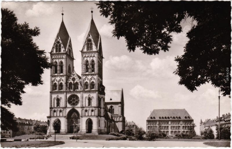 Foto Ansichtskarte  Freiburg im Breisgau Herz-Jesu-Kirche 1958