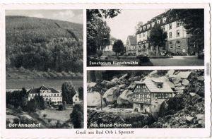 Bad Orb 3 Bild: Annenhof,  Küppelsmühle und das kleine Mühlchen 1958