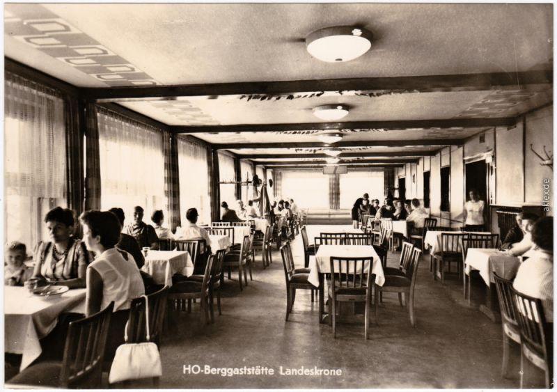 Biesnitz Görlitz Zgorzelec Speiseraum - HO-Gaststätte, Landeskrone 1971