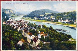 Folder Pötzscha Wehlen Bad Schandau Sächsische Schweiz  Ansichtskarten 1922
