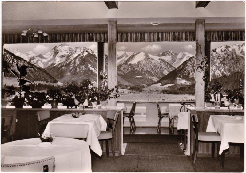 Foto Ansichtskarte Oberstdorf (Allgäu) Hotel Panorama Café-Restaurant 1960