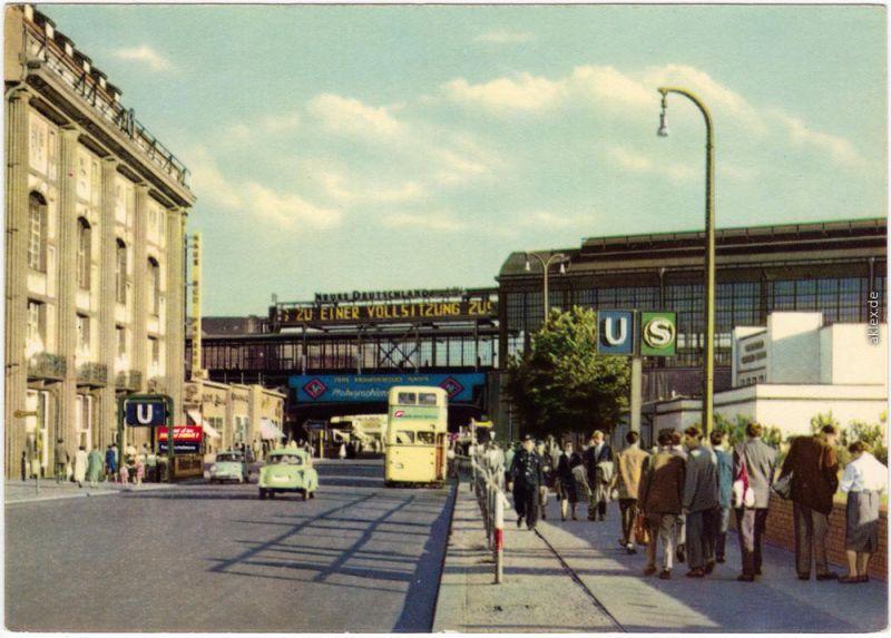 Ansichtskarte Mitte Berlin Bahnhof Friedrichstraße 1961