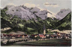 Ansichtskarte  Oberstdorf (Allgäu) Partie von Nord 1913