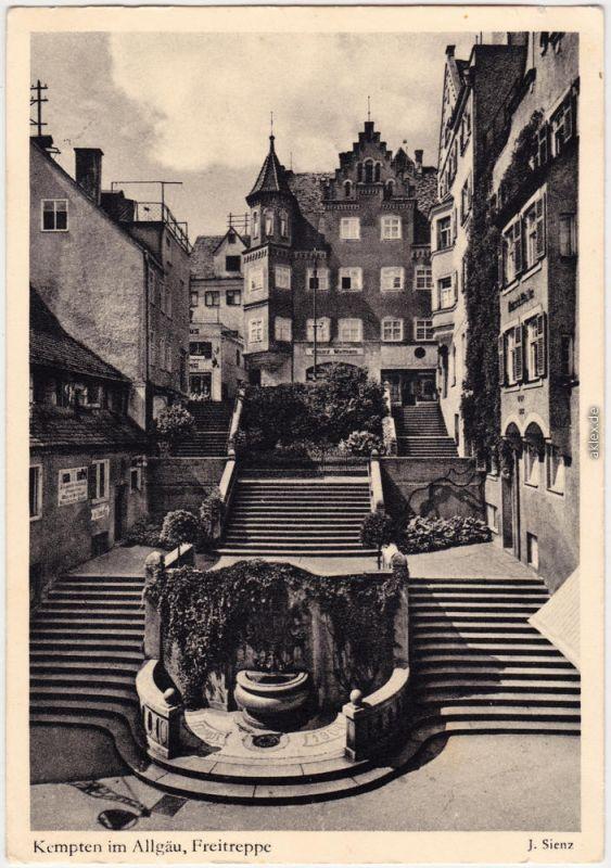 Ansichtskarte Kempten (Allgäu) Freitreppe 1932
