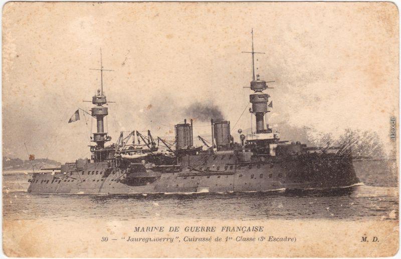 CPA Militaria  Marine de Guerre Francaise  - Cuirasse 1 Classe 1915